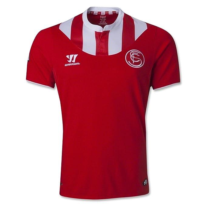 Warrior Sevilla Away 2013/14 S/S Camiseta de fútbol Alto Riesgo Rojo Rojo
