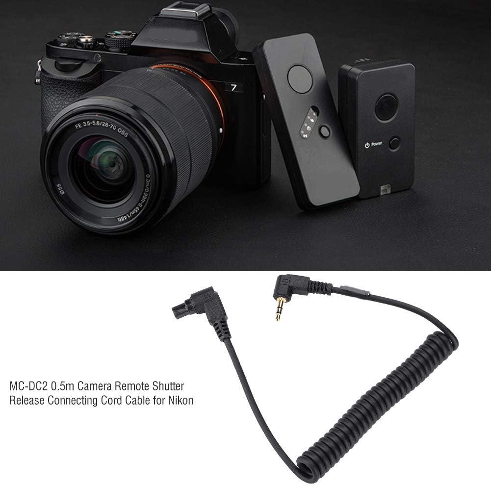3.5mm-N3 Topiky Cable de conexi/ón de Obturador Remoto de c/ámara de 0.5 m Cable de conexi/ón de 3.5 mm 2.5 mm para Nikon D7100 D7200 D7000 D5100 D5000 D3200 D3100 D90 D750 D610 D600 D5300 D5200