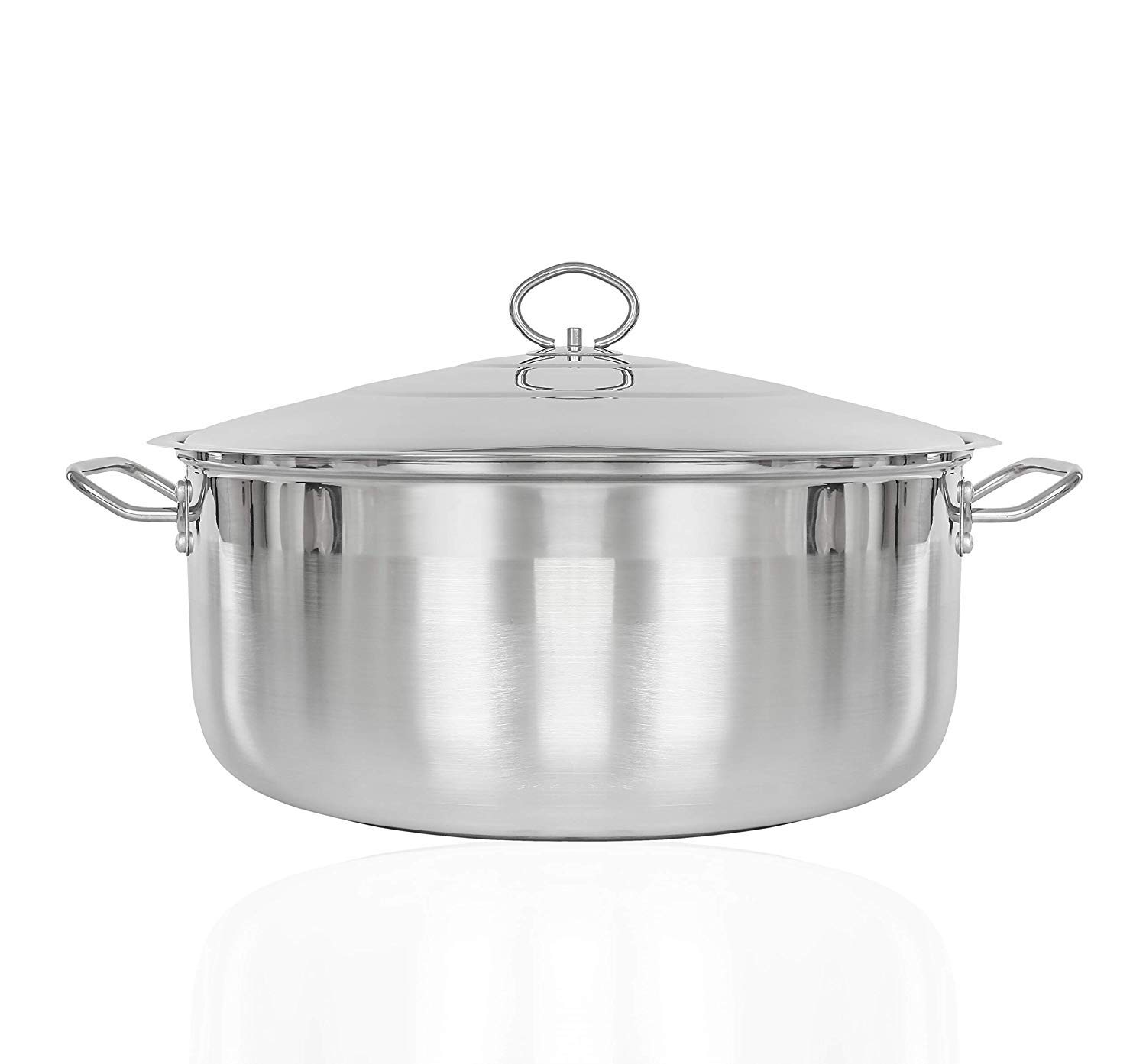 CONCORD Premium Stainless Steel 3-Ply Stock Pot (19 QT)