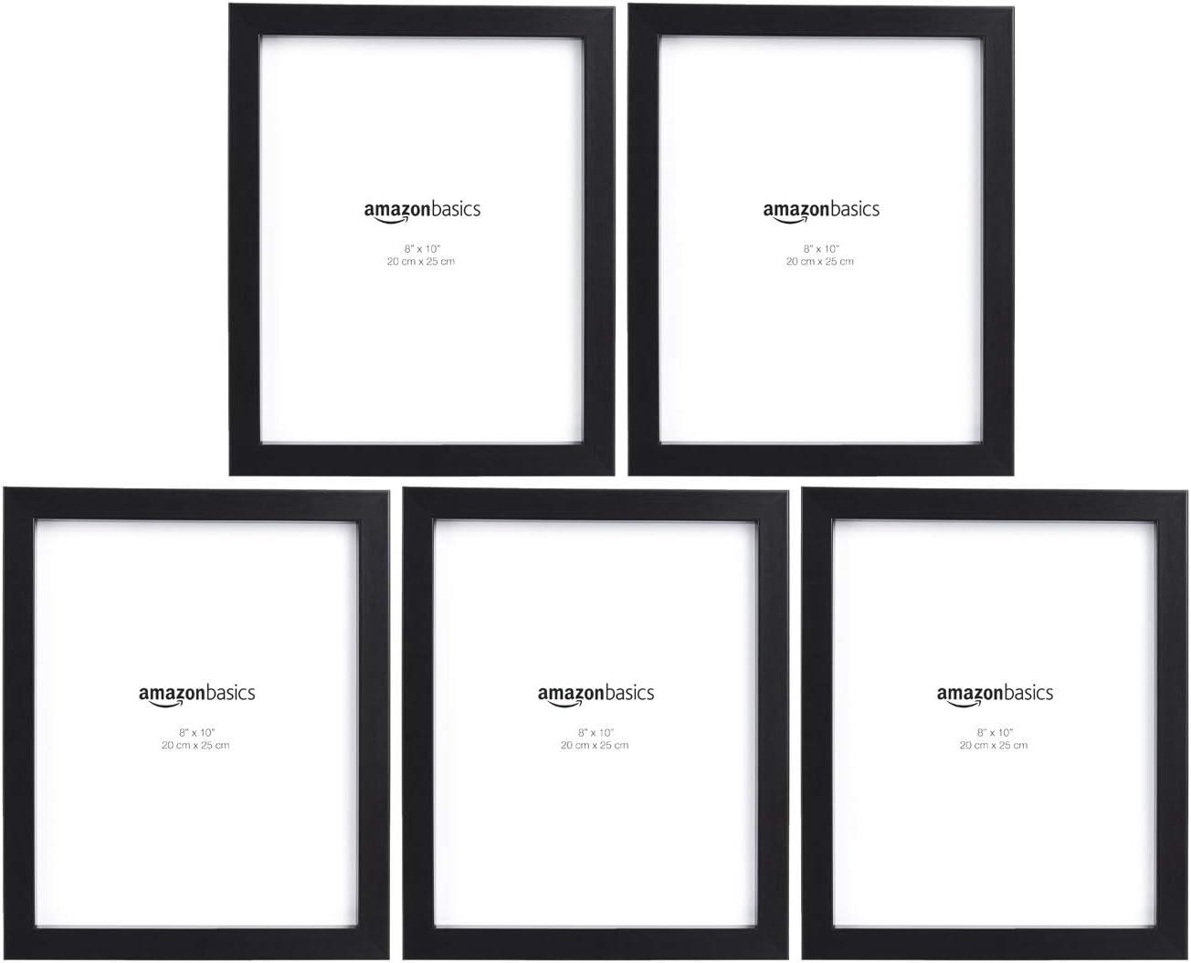 8 x 10 Black Basics Photo Picture Frame 5-Pack
