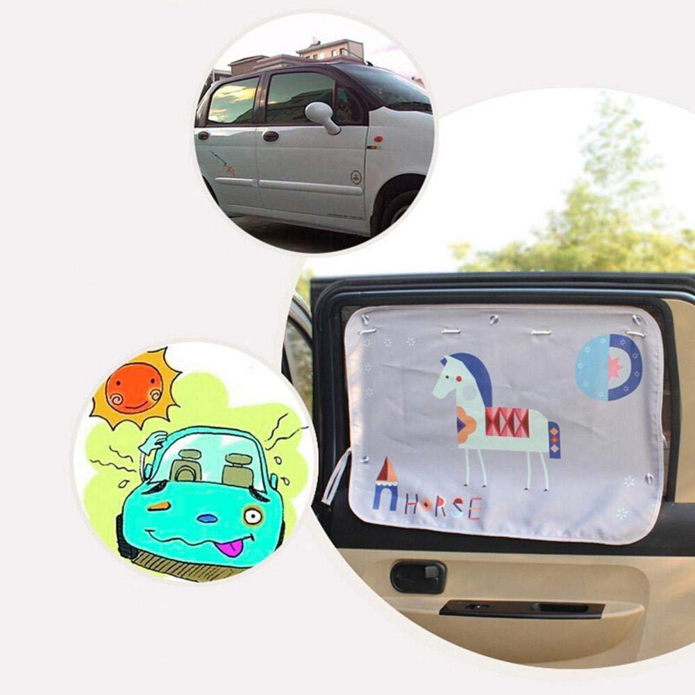 Tendina termoisolante per Proteggere i Neonati e Gli Animali Domestici dal Sole clevoers Visiera Parasole per Auto con Protezione UV autoadesiva 2 Pezzi