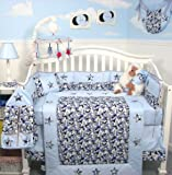SoHo Baby Crib Bedding 10Pc Set, BlueCamo