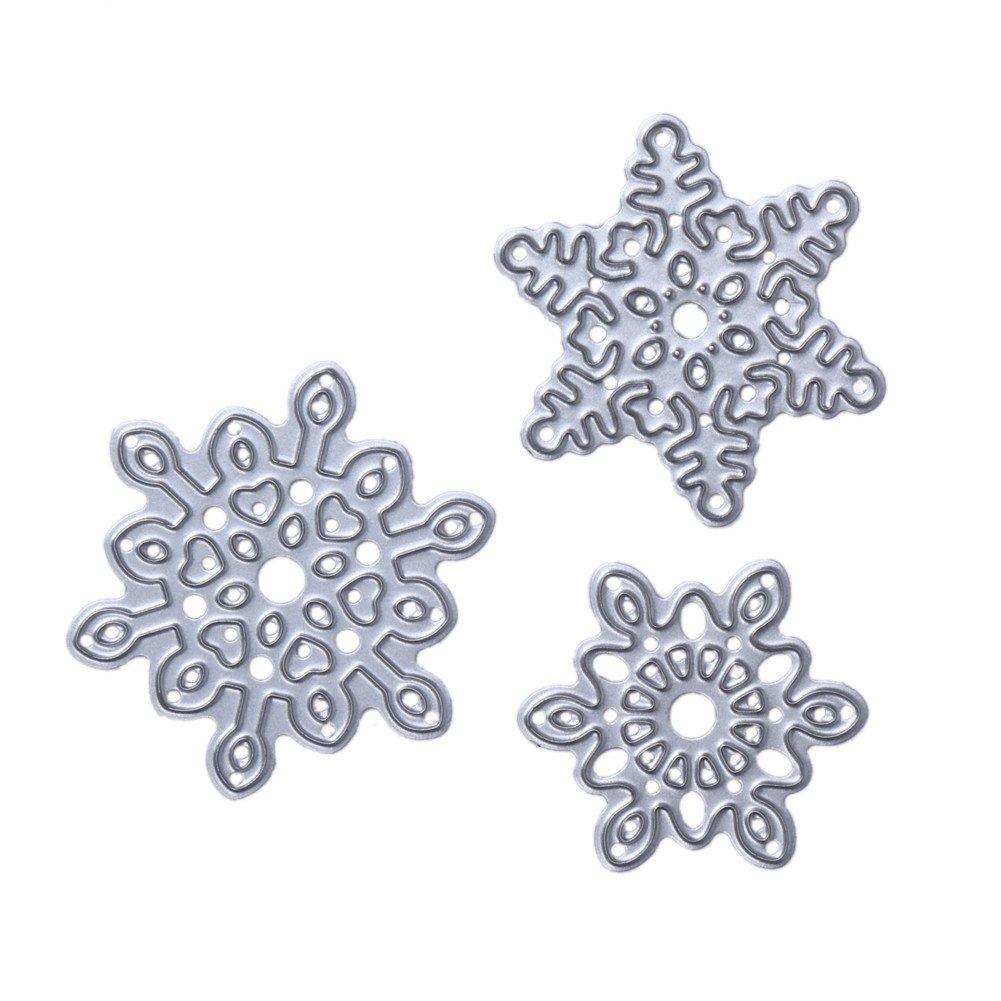 Demiawaking Flower Design Fustelle Stencil per Scrapbooking fai da te album biglietti per goffratura modello quattro stili 03