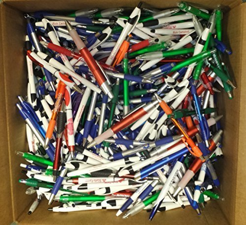 1000 Wholesale Lot Misprint Ink Pens, Ball Point, Plastic, Retractable
