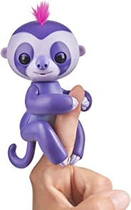 Fingerlings Baby Sloth - Marge (Purple) -  Interactive Baby Pet - by WowWee