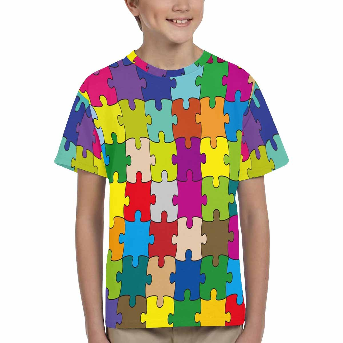 XS-XL INTERESTPRINT Kids T-Shirts 64 Pieces Puzzle