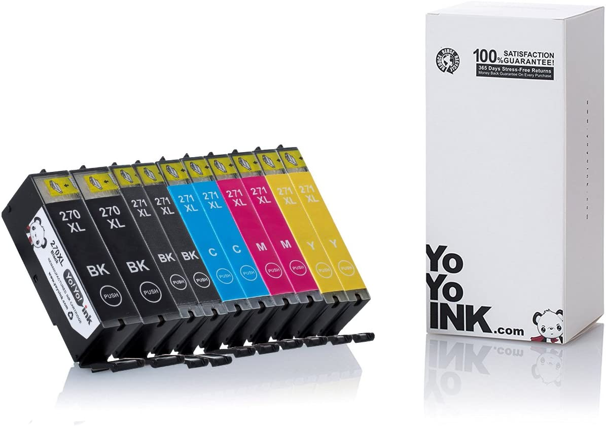 YoYoInk Compatible Printer Ink Cartridge Replacement for Canon PGI-270XL 270 / CLI-271XL 271 High Yield for TS6020 MG6820 MG6821 (2 Big Black, 2 Pigment Black, 2 Cyan, 2 Magenta, 2 Yellow, 10-Pack)