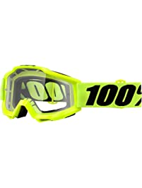 100% Unisex-Adult Speedlab (50204-004-02) ACCURI OTG Goggle Fluo Yellow-Clear Lens, One Size