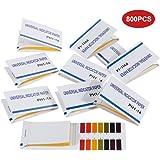 Faburo 800 Stück pH-Indikator Lackmuspapier, pH-Wert-Bereich 1-14