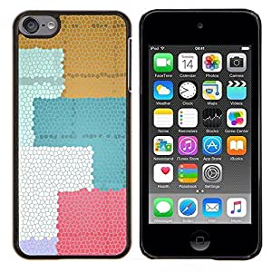 Caucho caso de Shell duro de la cubierta de accesorios de protecci¨®n BY RAYDREAMMM - Apple iPod Touch 6 6th Touch6 - Colorido de los cuadrados