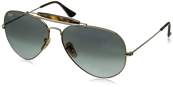 77a55839a55 Image Unavailable. Image not available for. Color  Ray-Ban Outdoorsman II -  Gold Frame Grey Gradient ...