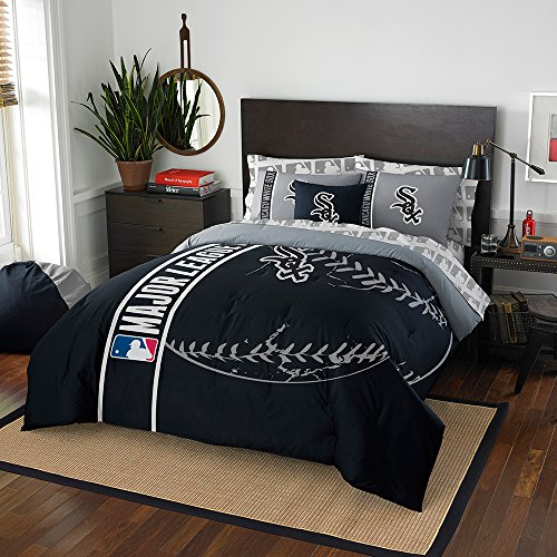 Mlb Comforter - The Northwest Company MLB Chicago White Sox Soft & Cozy 7-Piece Full Size Bed in a Bag Set