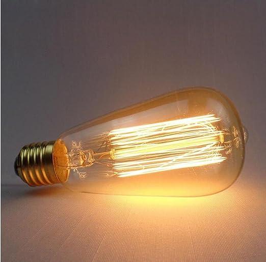 Dengpao 5pcs Ac220 240v Vintage Edison Light Bulb E27 40w Retro