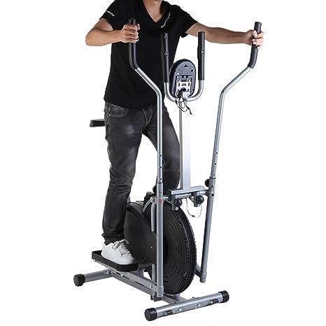 2 en 1 bicicleta elíptica estacionaria bicicleta de ejercicio gimnasio en casa entrenamiento Cardio máquina: Amazon.es: Deportes y aire libre