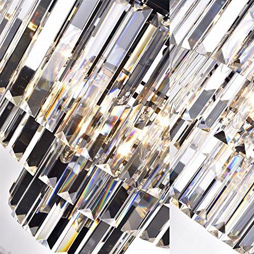 Lumos 7 Lights Luxury Modern/Contemporary Crystal Chandelier Ceiling Light Pendant Light for Dining Room, Living Room … (6 lights) (6 Lights) by Lumos (Image #3)