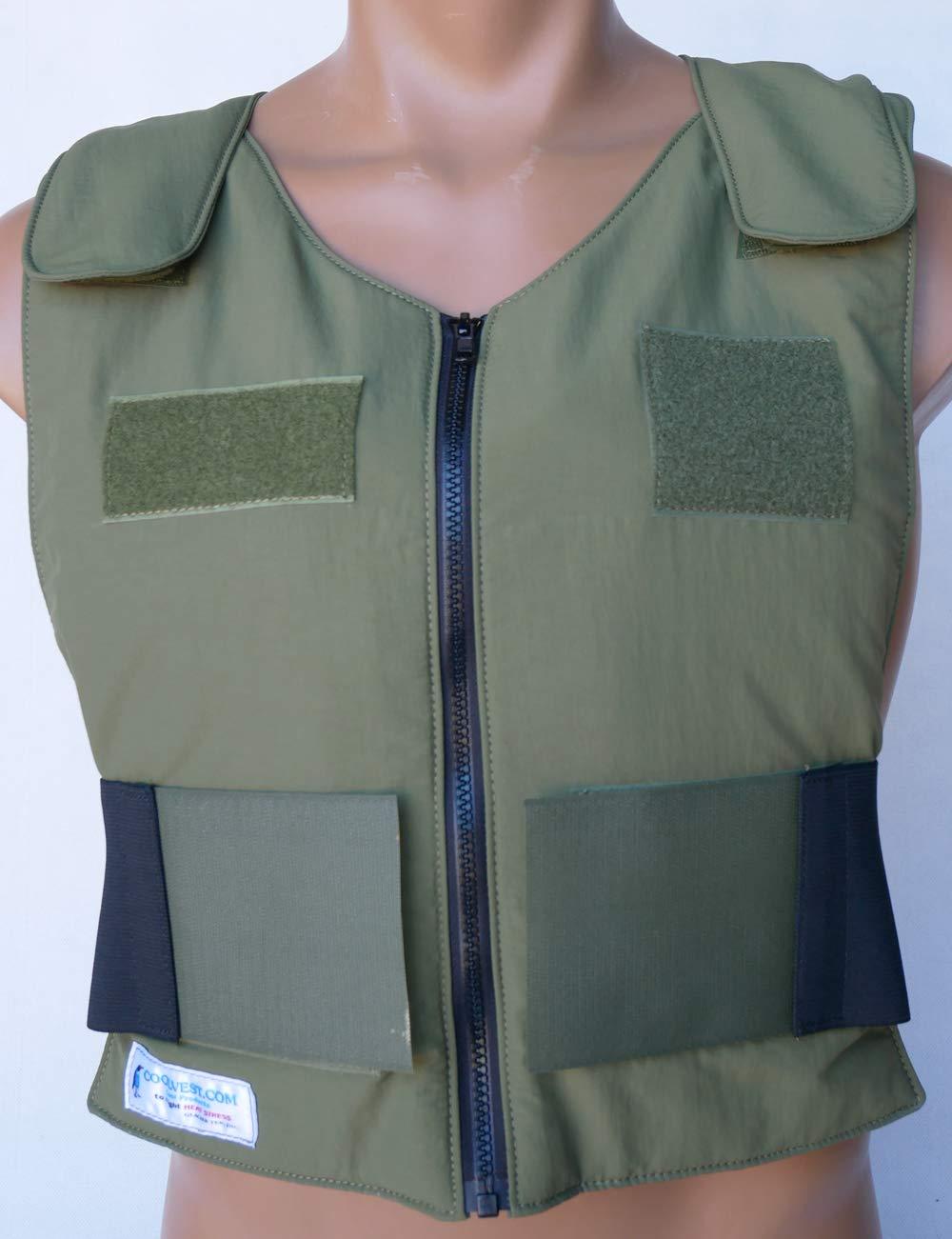 Glacier Tek Law Enforcement Cool Vest with Set of 8 Nontoxic Cooling Packs Green