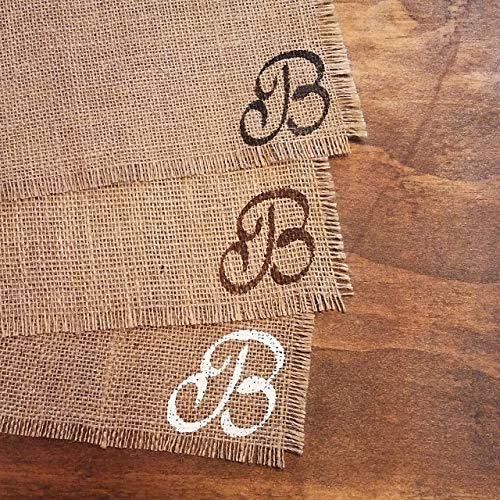 (Personalized Monogram Placemats, Rustic Thanksgiving Burlap Placemats, Rustic Fall Table Decor, Burlap Fall Decorations, Rustic Thanksgiving Table Decorations, Table Mats Set of 2, 4, 6, 8, 10, or 12)
