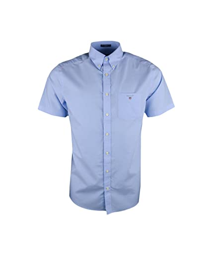 6c1076c74a9 Gant Mens Hamptons Blue The Plain Broadcloth Shirt 2XL: Amazon.co.uk:  Clothing