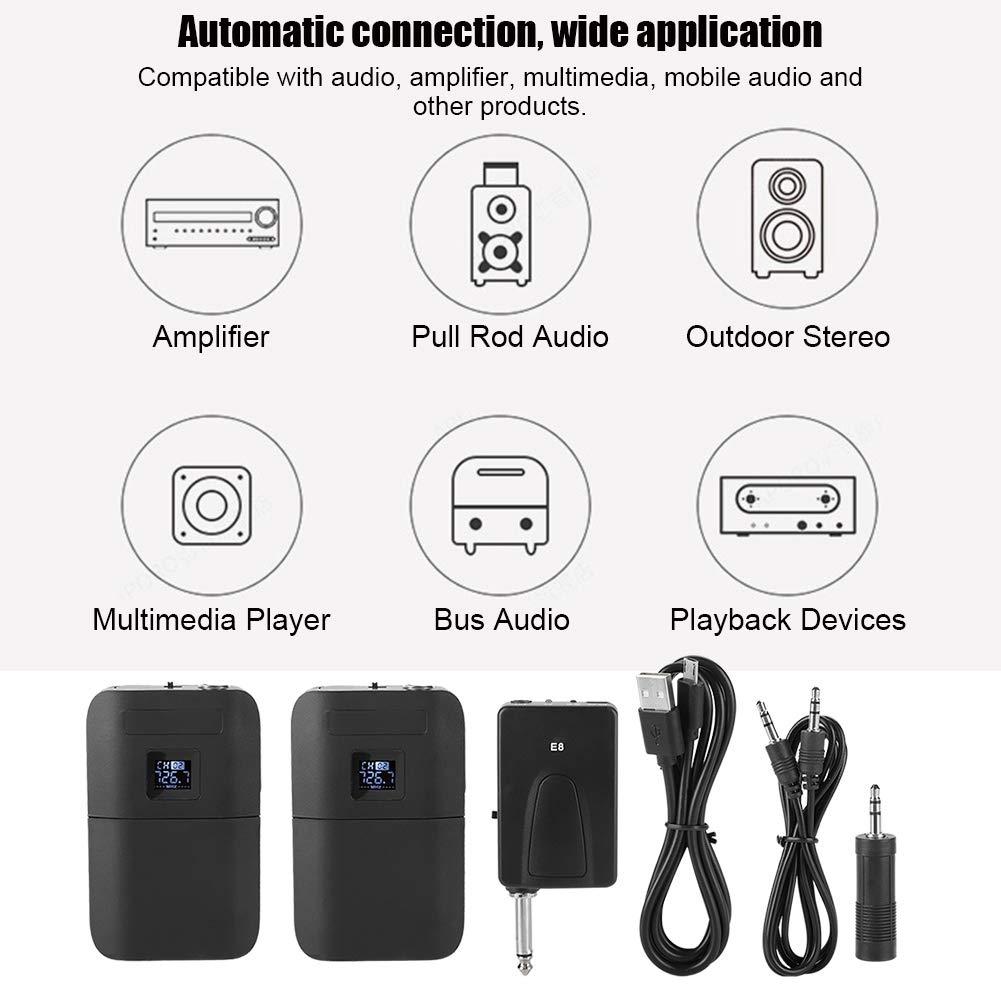 VHF Kabellos Ansteckmikrofon mit tragbarer Transmitter Empf/änger f/ür Interviews Garsent Lavalier Mikrofon System wirless Podcast und Aufnahme