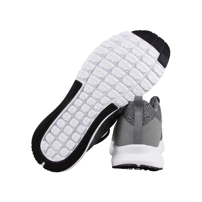 Reebok Mens Print LUX Running Shoes 11.5-M, Grey//Black