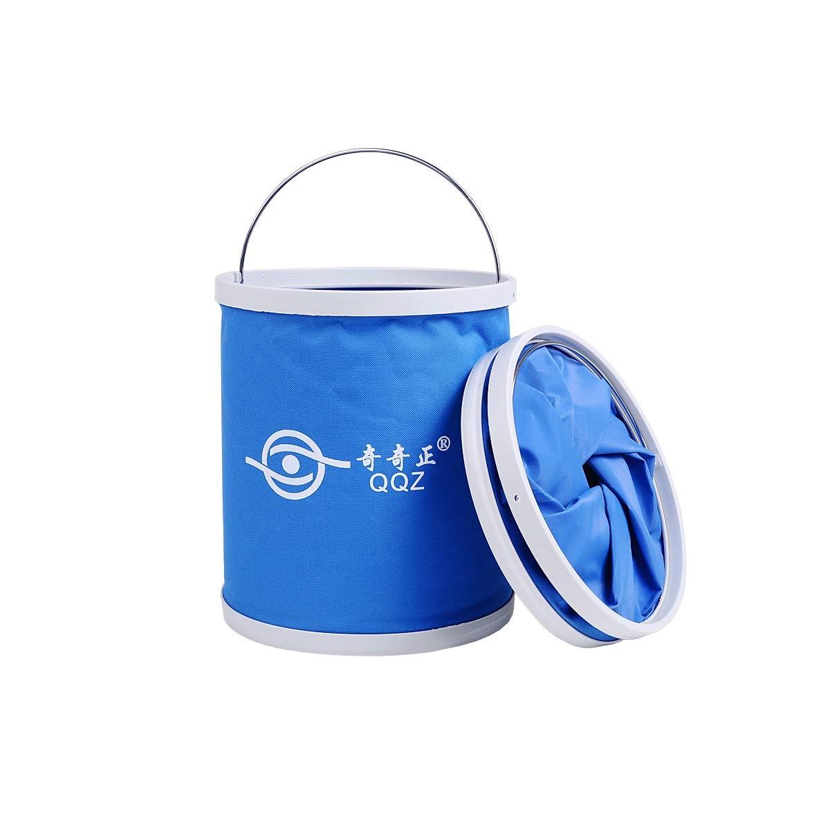 Muziwenju Portable Folding Bucket, 11L Collapsible Water Container wash Basin, Outdoor Travel, Camping, Hiking, car wash, Picnic, Fishing (Capacity : 11L, Color : Blue)