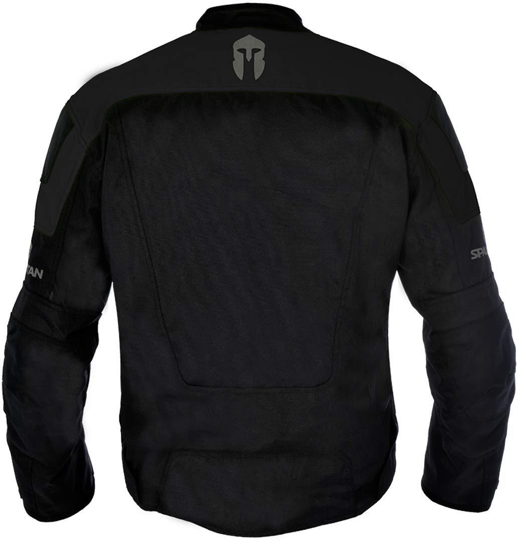 Oxford Mens Spartan Textile Short Jacket Black//Fluorescent, XXXXX-Large