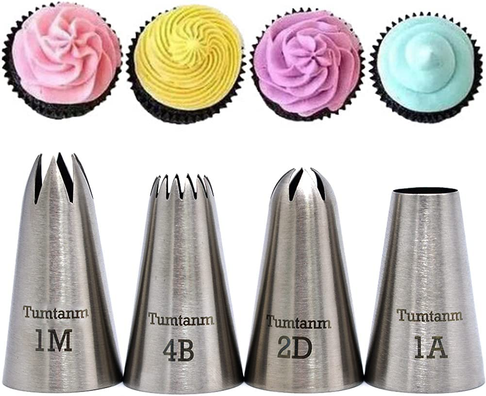 Tumtanm Very popular Professional Large Popular brand in the world Piping Nozzles 4pcs Steel Stainless