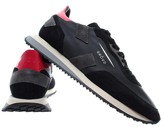 GHOUD Venice Scarpe Uomo Sneakers Man Low Leather Suede Black Gray Made in  Italy  Amazon.it  Scarpe e borse 9feea80096d