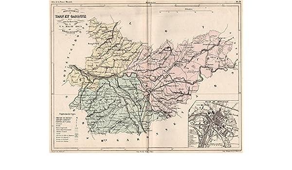 Amazoncom Tarn Et Garonne Carte Du Département Plan De