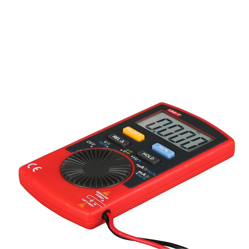 UNI-T UT120C Tama/ño de bolsillo Stype Mult/ímetro digital Probador de rango autom/ático DC Diodo de voltaje CA Mini medidores el/éctricos Pantalla LCD