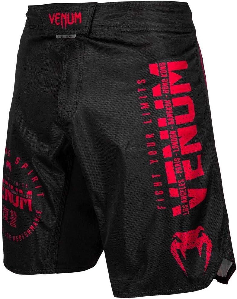 Black//Red Venum Signature MMA Fight Shorts