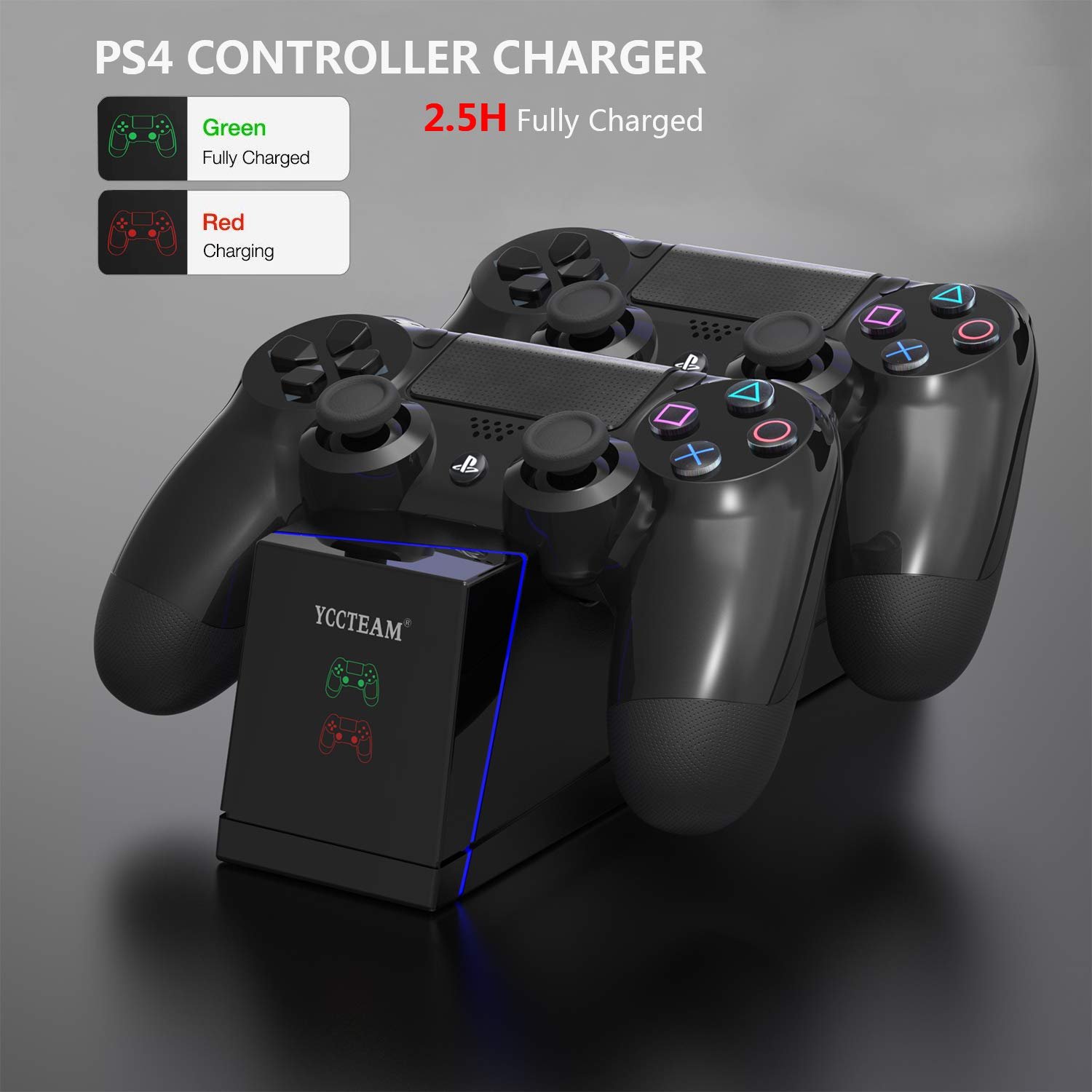 Amazon.com: PS4 Controller Charger,DualShock PS4 Controller ...