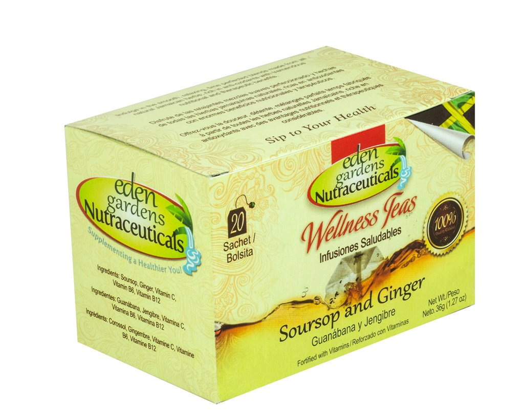Amazon.com : Jamaican Herbal Wellness Teas (Soursop & Ginger) : Grocery & Gourmet Food