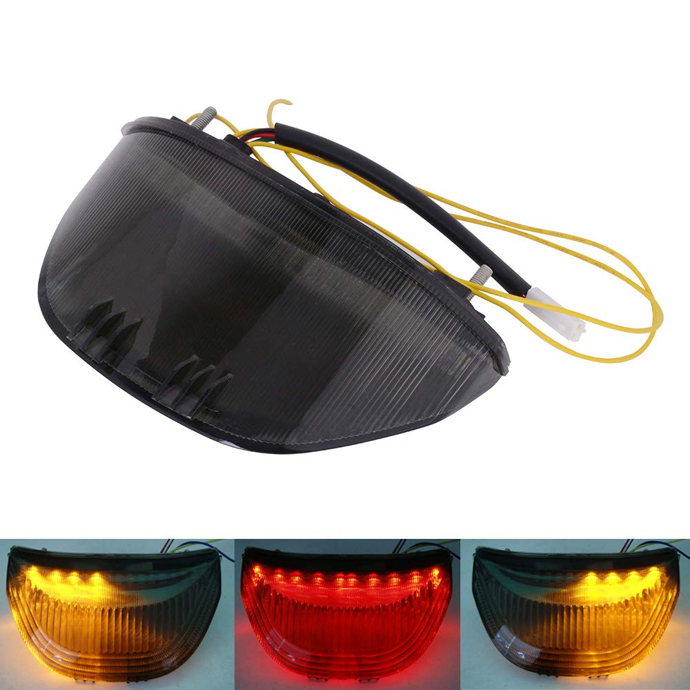Amazon com: AnXin Motorcycle Rear Tail Light Integrated LED