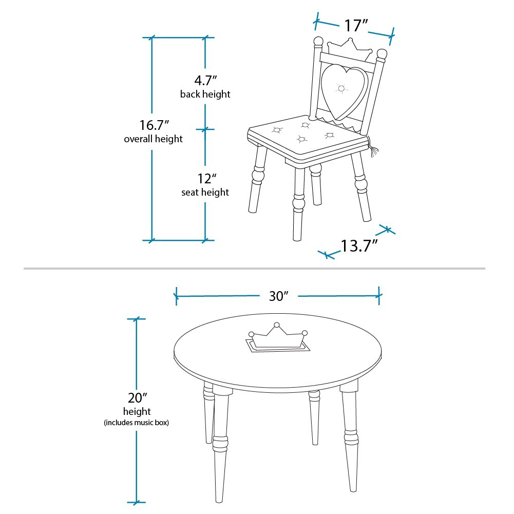 Wildkin Table and Chair Set, Princess by Wildkin