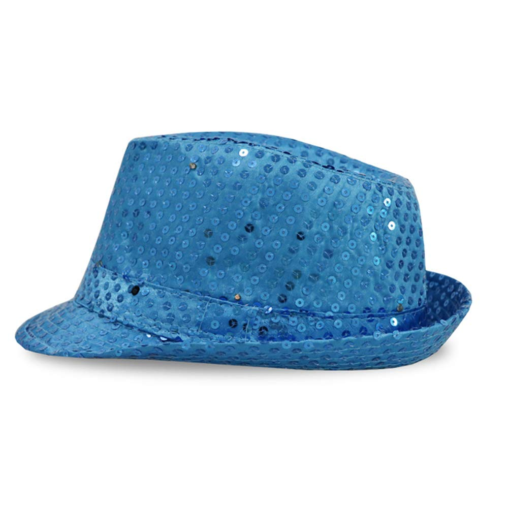 MINGRONG Party LED Jazz Hat Unisex Bright Stage Props Flash Cowboy Hat Party Hat for Xmas Party Stage Show