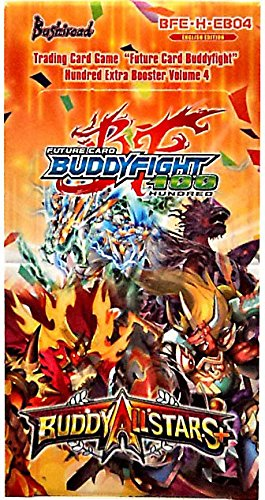Buddyfight ALLSTARS PLUS + Future Card Hundred TCG Game English BFE-H-EB04 Extra Booster Box - 15 packs / 5 Cards Omni Deck