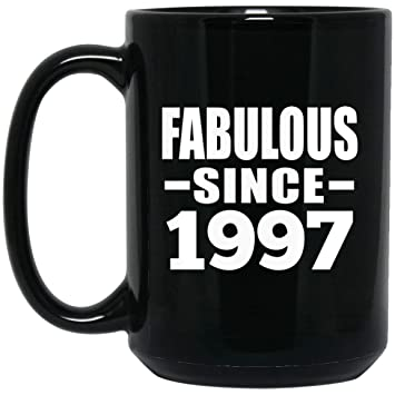 Birthday Gift Idea 22nd Fabulous Since 1997 15 Oz Coffee Mug Ceramic Drinking Tea