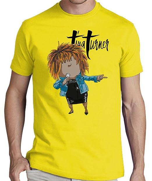 LaTostadora Camiseta Tina Turner - Camiseta hombre clásica, calidad premium Amarillo limón Talla L: hola: Amazon.es: Ropa y accesorios
