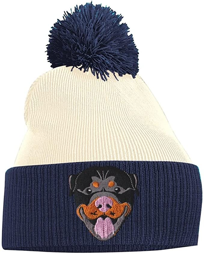 Bang Tidy Clothing Pom Pom Beanie - Rottweiler - French Navy and ...