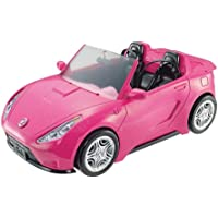 Barbie Cabrio Glamour Auto Due Posti con Dettagli Realistici, Colore Rosa, DVX59