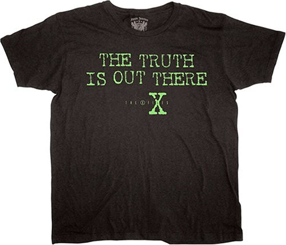 The X Files The Truth Is Out There Black Mens Shirts