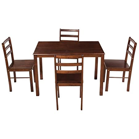 Woodness Cyprus 4 Seater Dining Table Set (Matte Finish, Wenge)