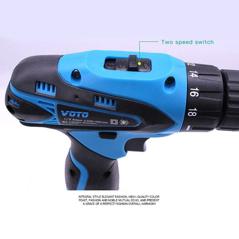 12V Atornillador de Impacto Destornillador Inal/ámbrico Taladro Combinado Multifuncional Inal/ámbrico Recargable
