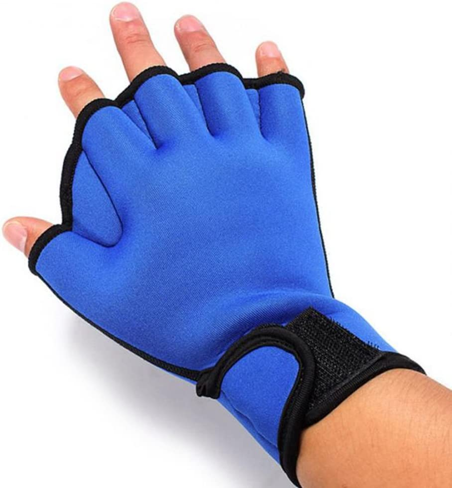 Aqua Webbed Swimming Gloves Geekercity Aquatic Fit Swim Training Gloves Sizes for Men Women Adult Children Neoprene Diving Water Resistance Training-Exercise Fitness Gloves