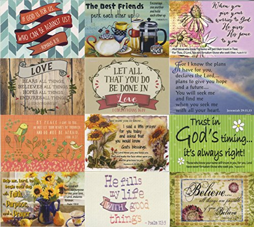 Pass It on Inspirational and Uplifting Message Cards with Scripture - Package of 24 Assorted Cards (Inspirational Verses)