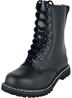 Mil Tec Springerstiefel TSR mit Kappe: : Schuhe