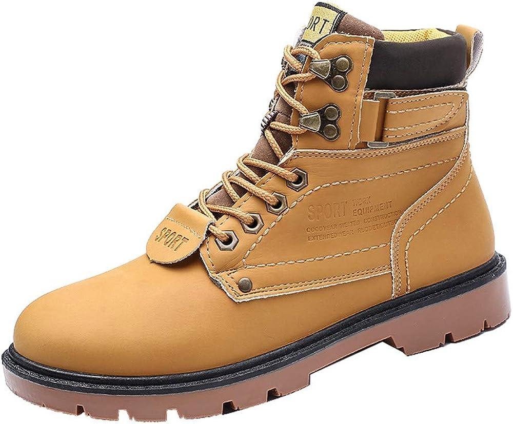 Logobeing Botines Hombre Antideslizantes Outlet Zapatillas Botas Altas de Invierno Herramientas para Exteriores Resistentes Al Desgaste Zapatos(46,Amarillo): Amazon.es: Zapatos y complementos