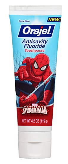 Amazon.com: Spider-Man Toothbrush Bundle: 2 Items - Spinbrush Powered Toothbrush, Anticavity Fluoride Toothpaste: Beauty