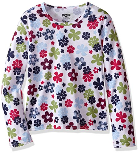 Hot Chillys Youth Pepper Skins Print Crewneck, Flower Power, Large by Hot Chillys